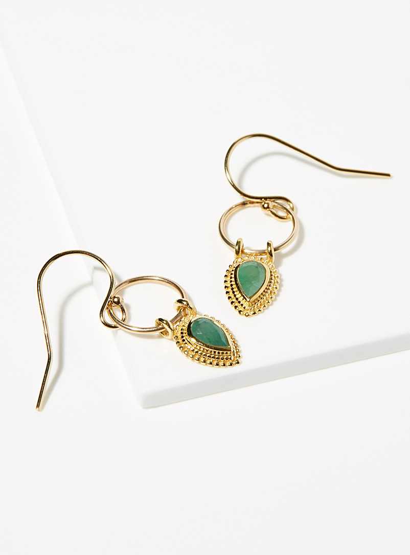 Lulu Designs Patterned Green Ellis earrings for women