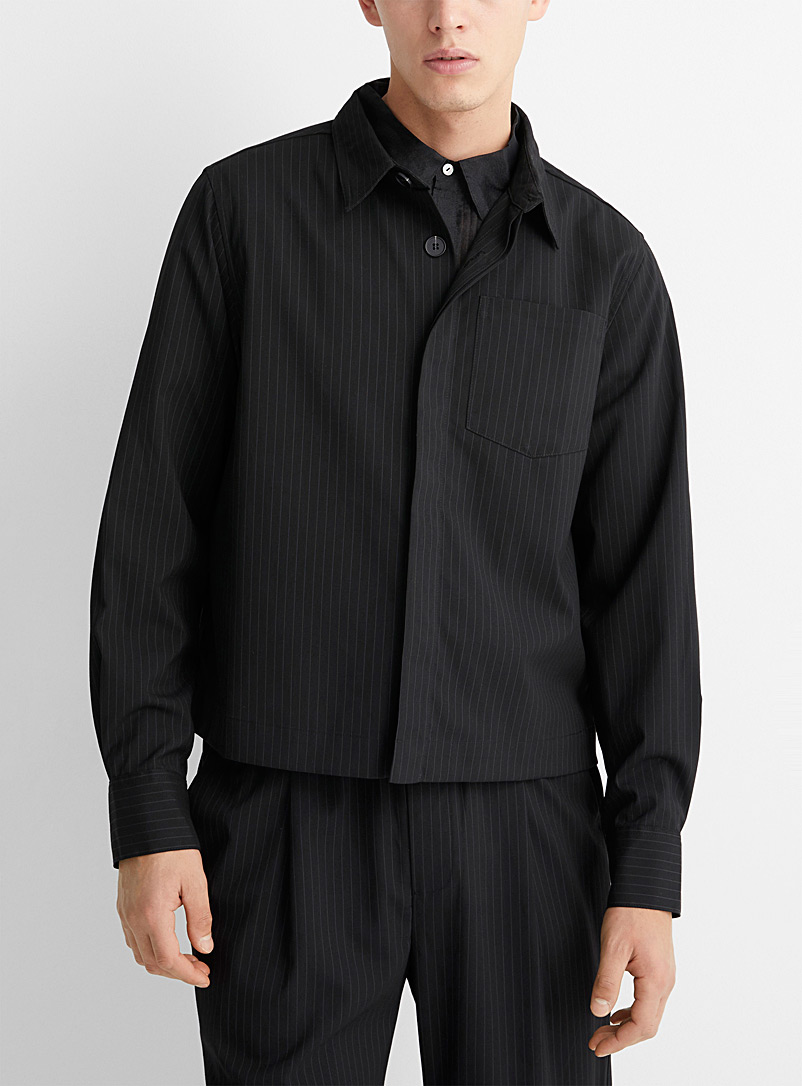 ONYRMRK Black Boxy check jacket for men
