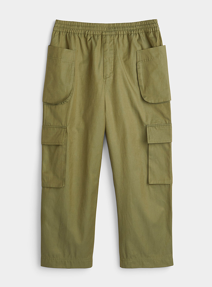 ONYRMRK Mossy Green Military-style cargo joggers for men
