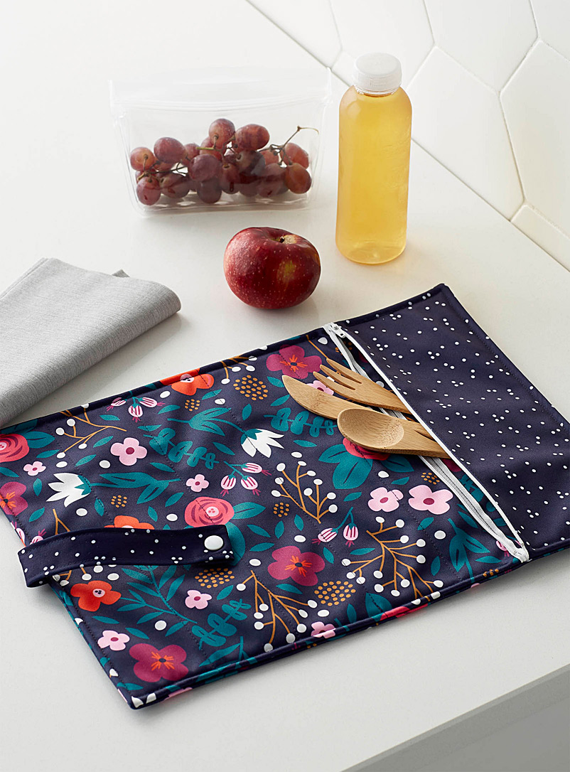 Demain Demain Assorted Colourful floral recycled plastic roll-up placemat
