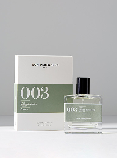 003 eau de parfum  Yuzu, violet leaves, vetiver