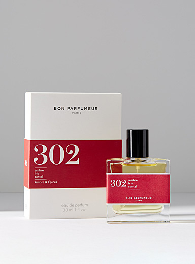 302 eau de parfum  Amber, iris and sandalwood