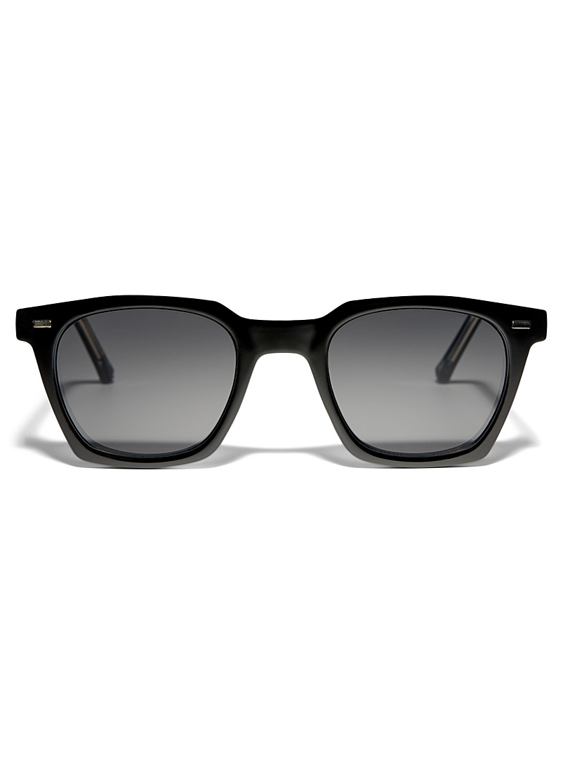 Spitfire Black BC2 square sunglasses for men