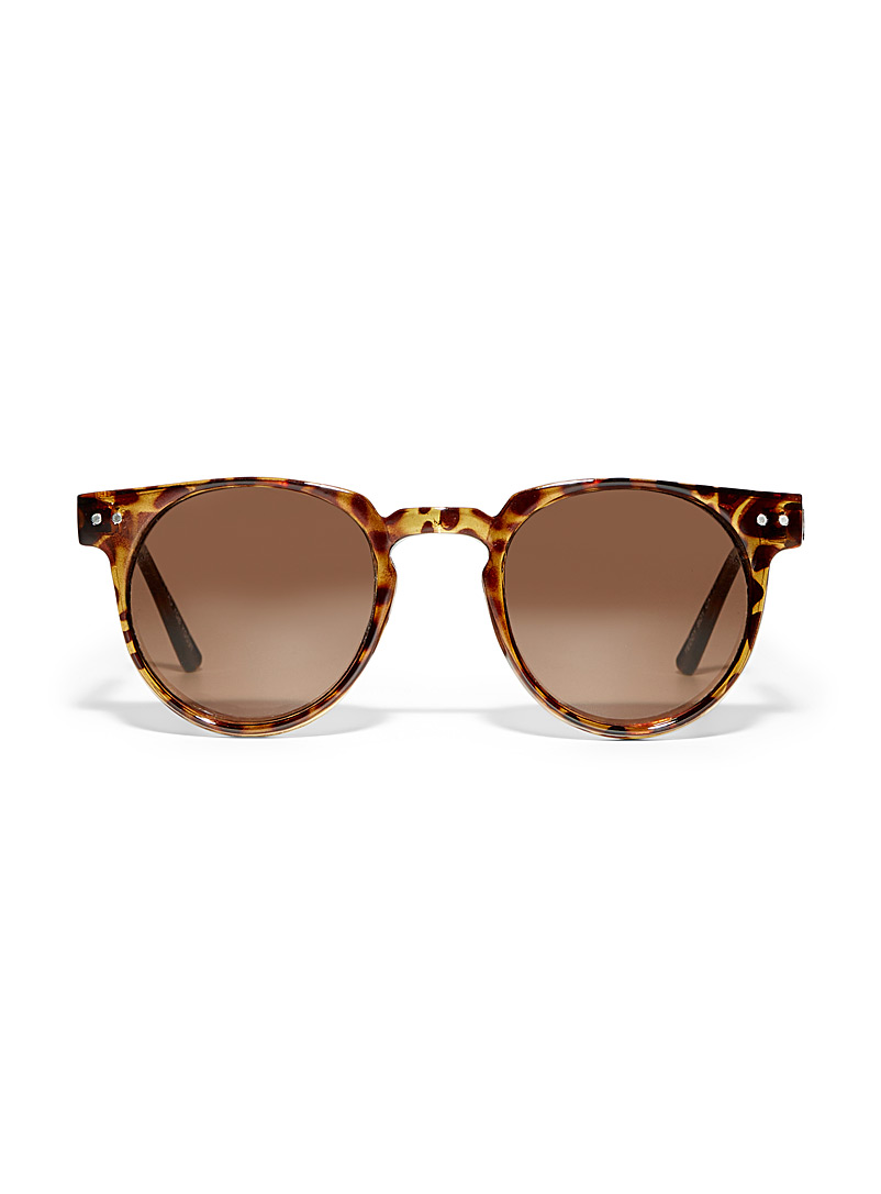 Spitfire Light Brown Monochrome Teddy Boy round sunglasses for women