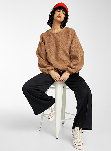 Le sweat ample sherpa manches bulle