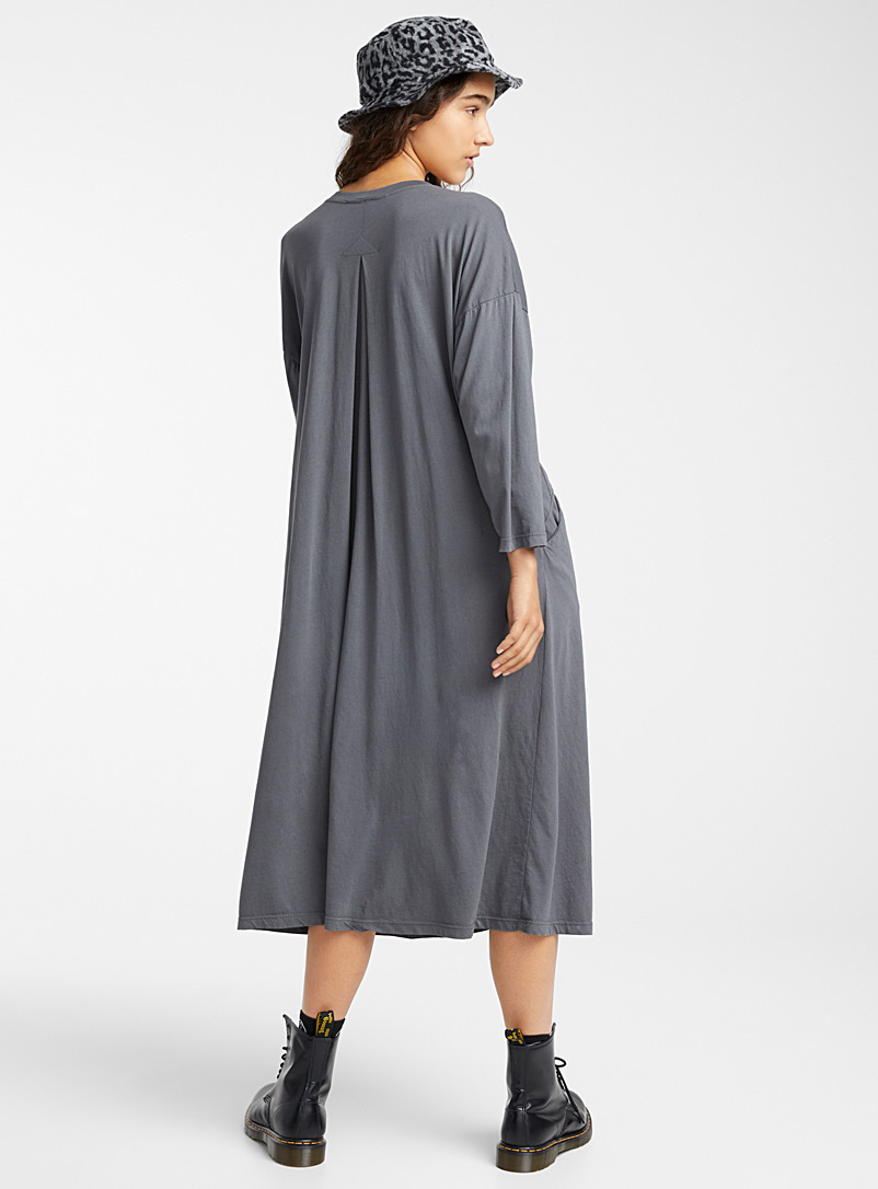 Wendy Trendy Charcoal Relaxed loose maxi dress for women