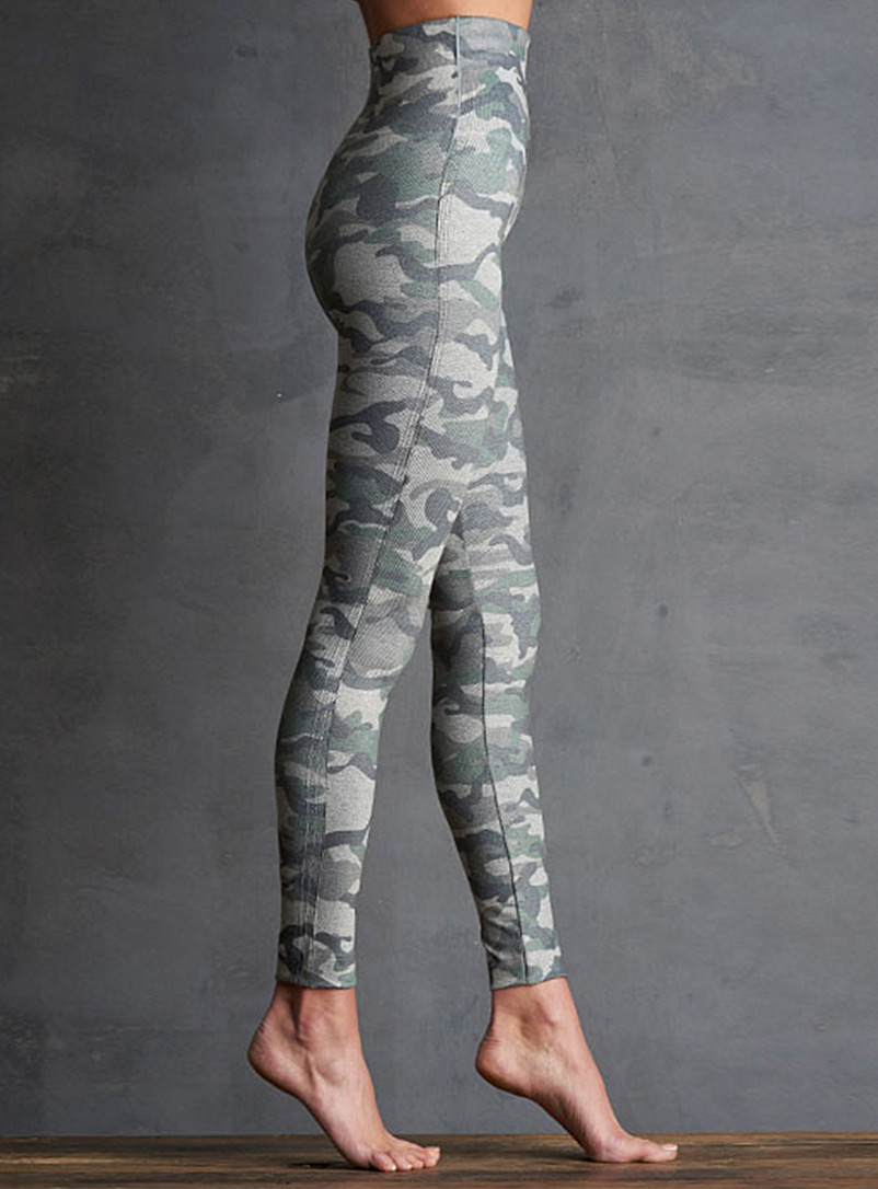 Lemon Assorted green  Camo high-rise legging for women