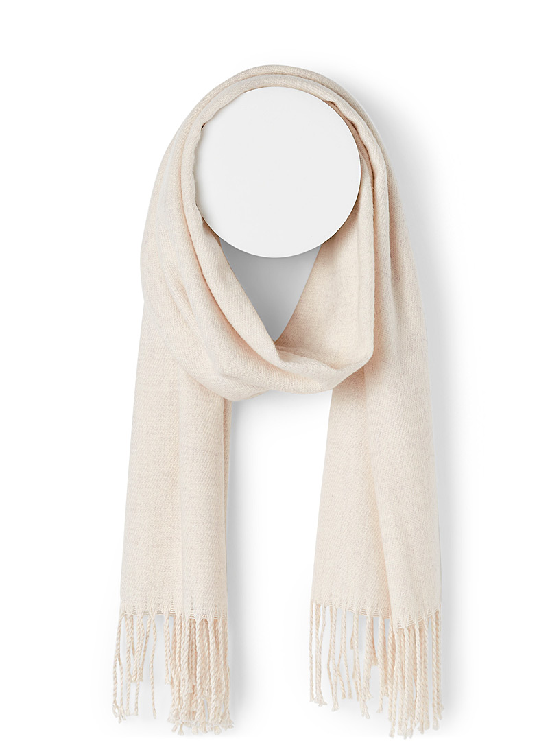 Touch of cashmere fringed scarf