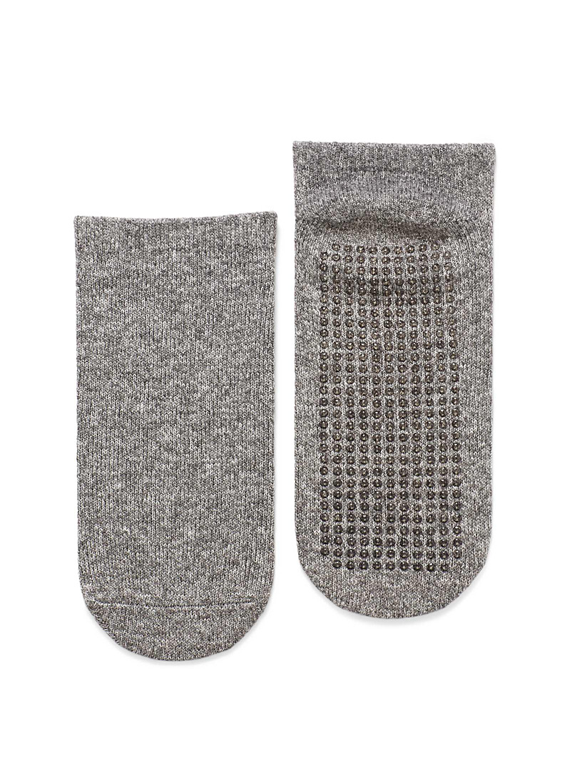 Lemon Grey Heather ped socks Set of 2 for women