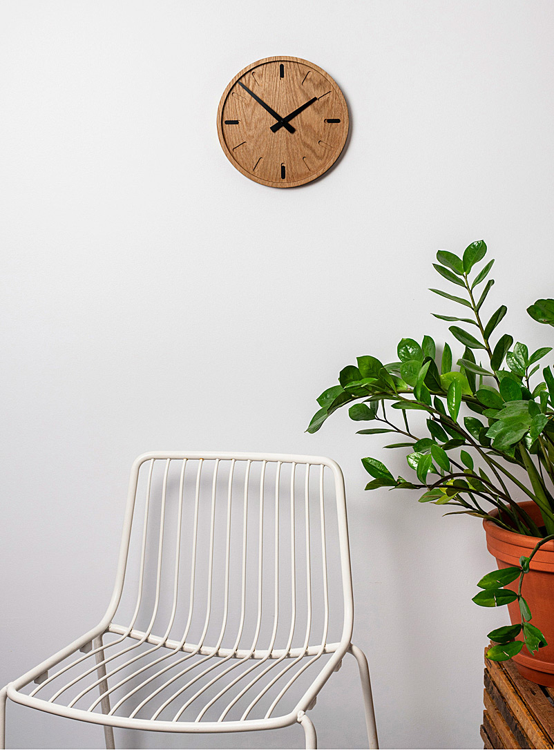 Atelier-D Assorted Oak clock