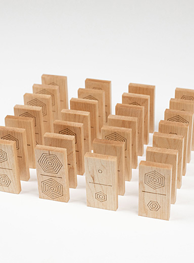 Wooden dominoes game