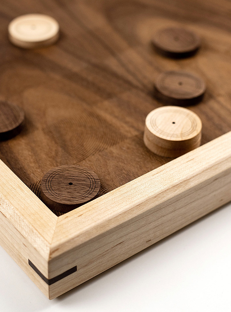 Wooden checkers set - Atelier-D - Brown