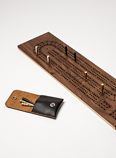 Wooden cribbage game