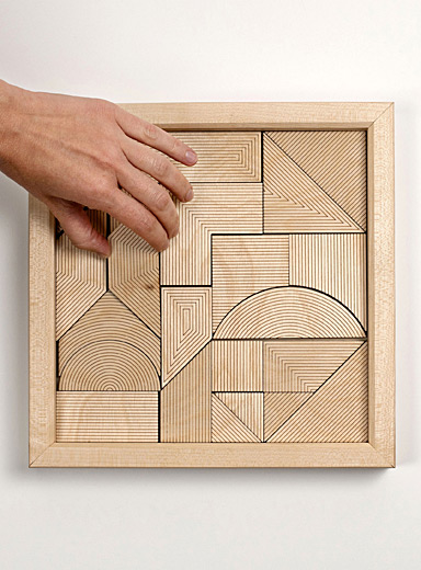 Deluxe wooden Oblika puzzle <br>23-piece set