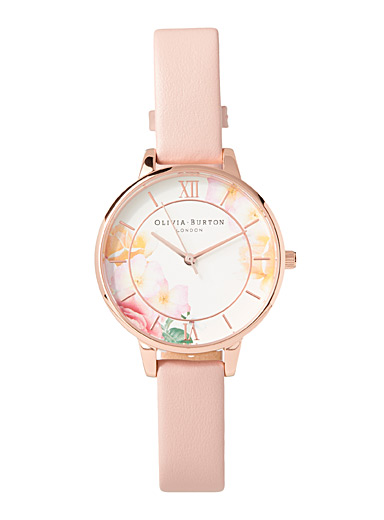 Tea Party rose gold watch