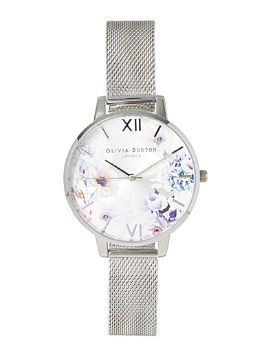 Olivia Burton Silver Morning glow watch for women