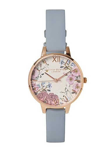 Olivia Burton Blue English blossom watch for women