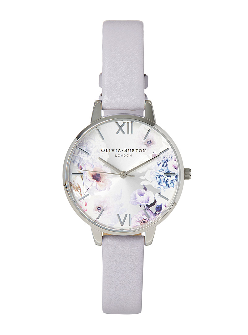 Olivia Burton Mauve Lilac garden watch for women