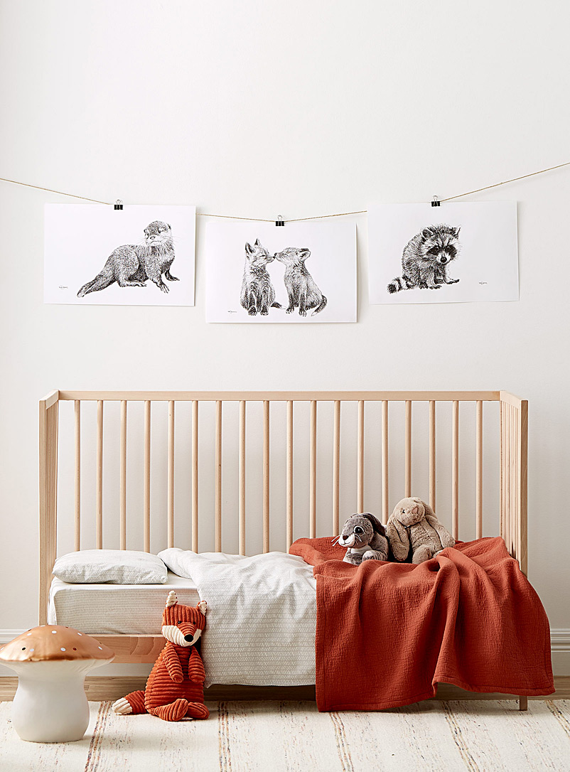 Set of 3 Forest Animals illustrations 2 sizes available