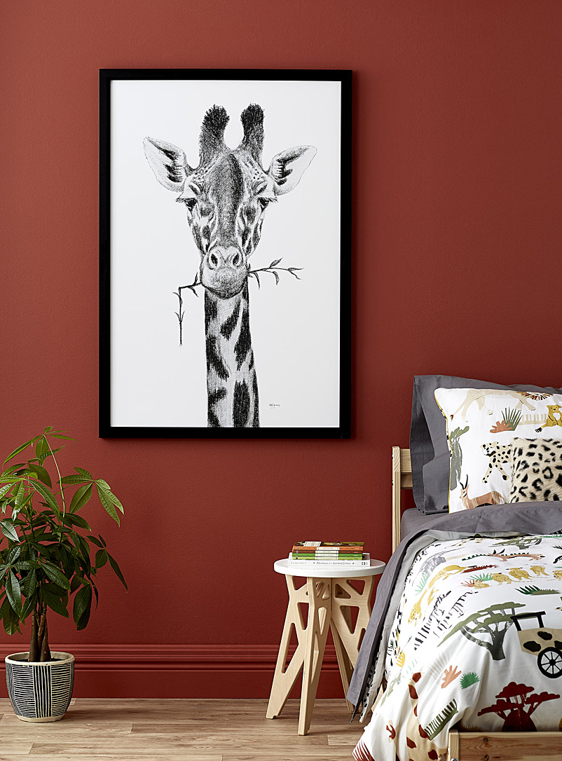 Le NID atelier Black and White Giraffe illustration 2 sizes available