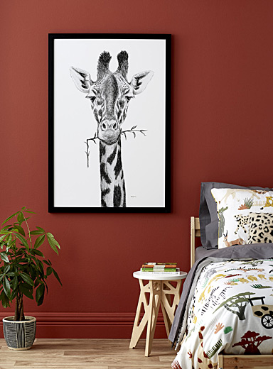 Giraffe illustration  2 sizes available