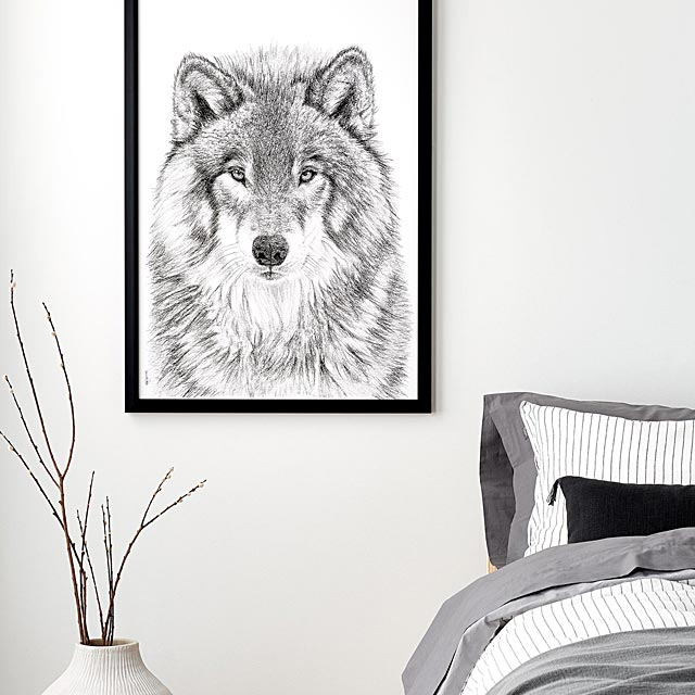 the-wolf-illustration-2-sizes-available