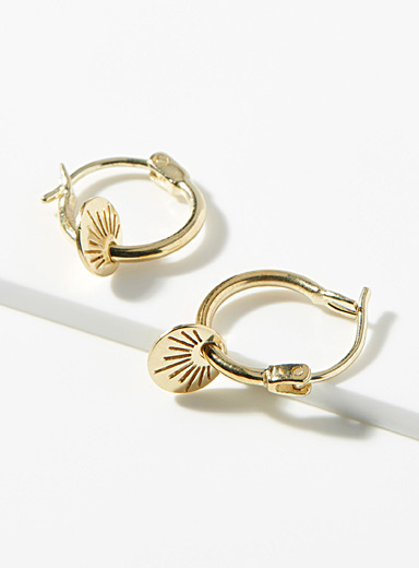 Xia gold earrings