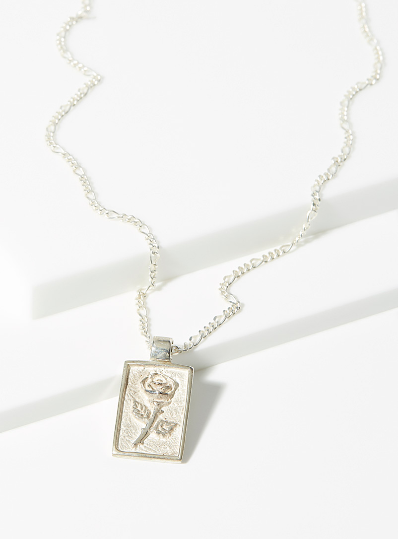 Ken & Jame Silver Rose silver necklace for women