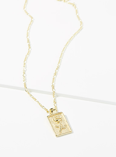 Le collier Rose or