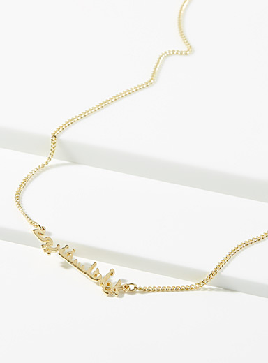 Ken & Jame Assorted Amina gold necklace for women