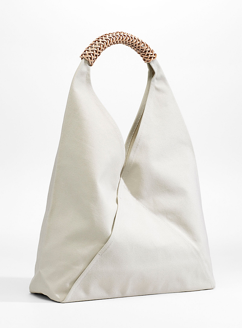 Triangle tote - Designer Bags - Ivory White