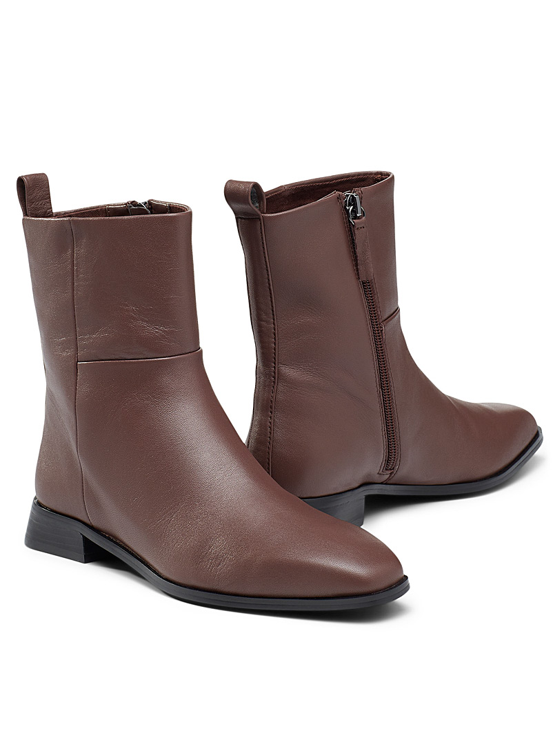 Who What Wear Brown Raya ankle boot Women for women