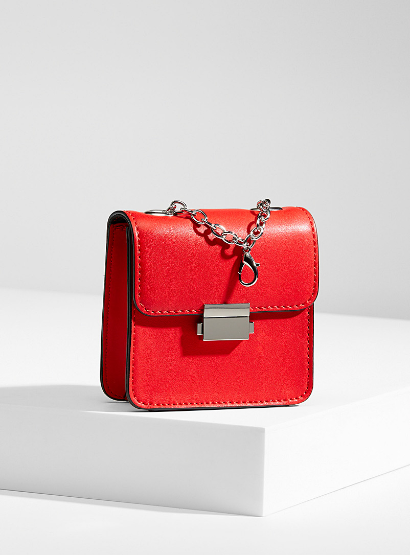 Who What Wear Red Balia convertible bag for women