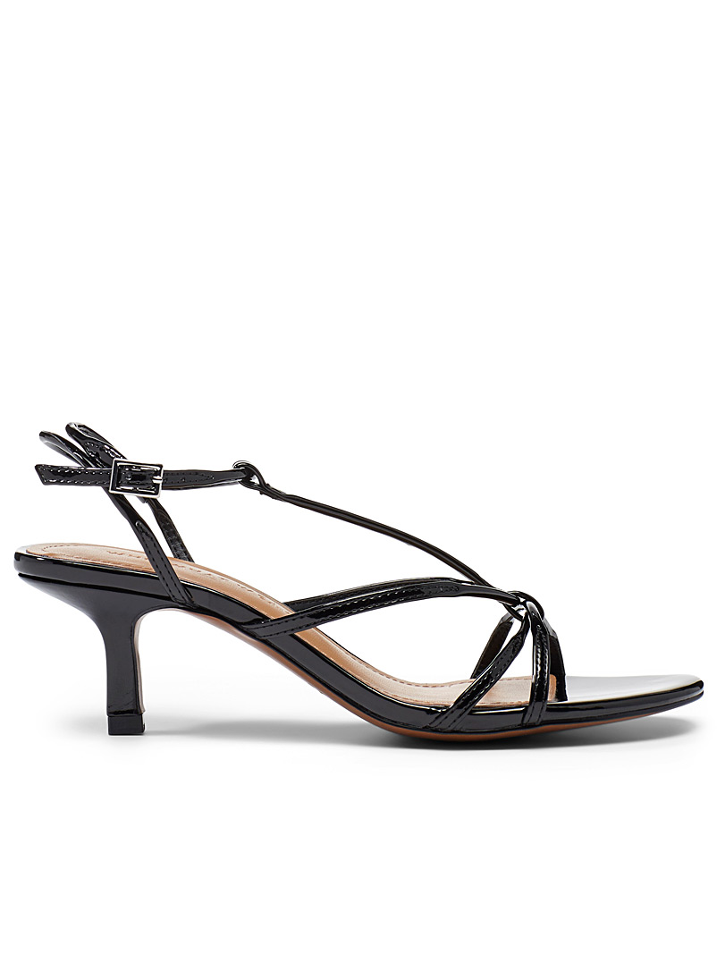 Who What Wear Black Freya heeled sandals for women