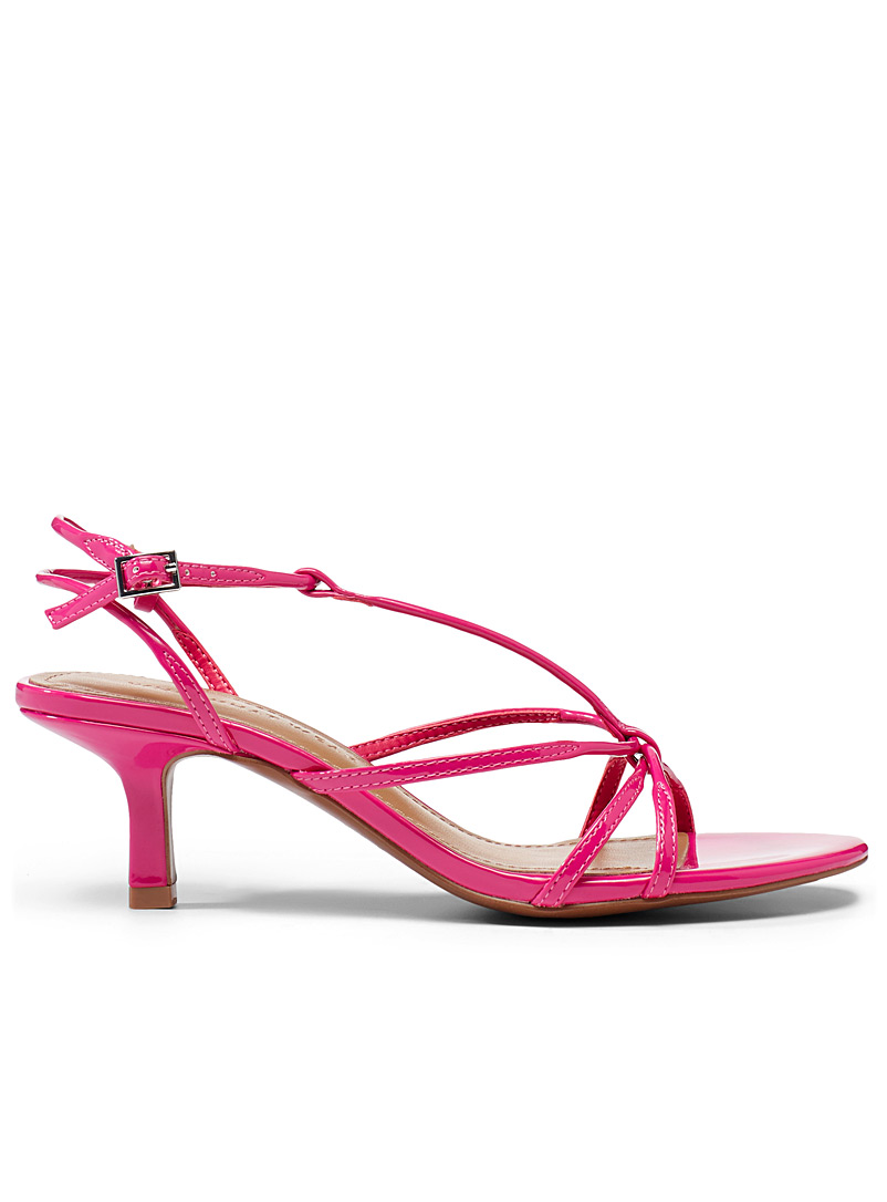 Who What Wear Pink Freya heeled sandals for women