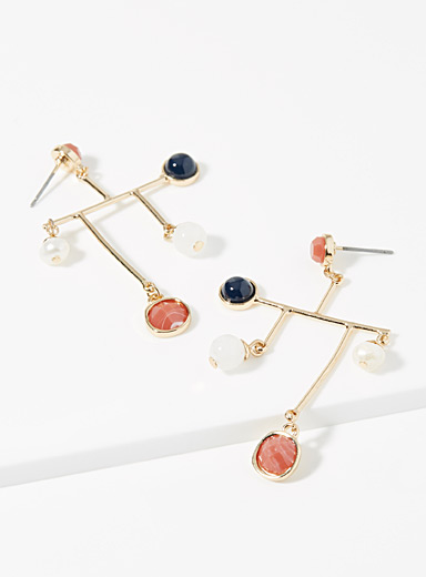 Graphic mobile earrings