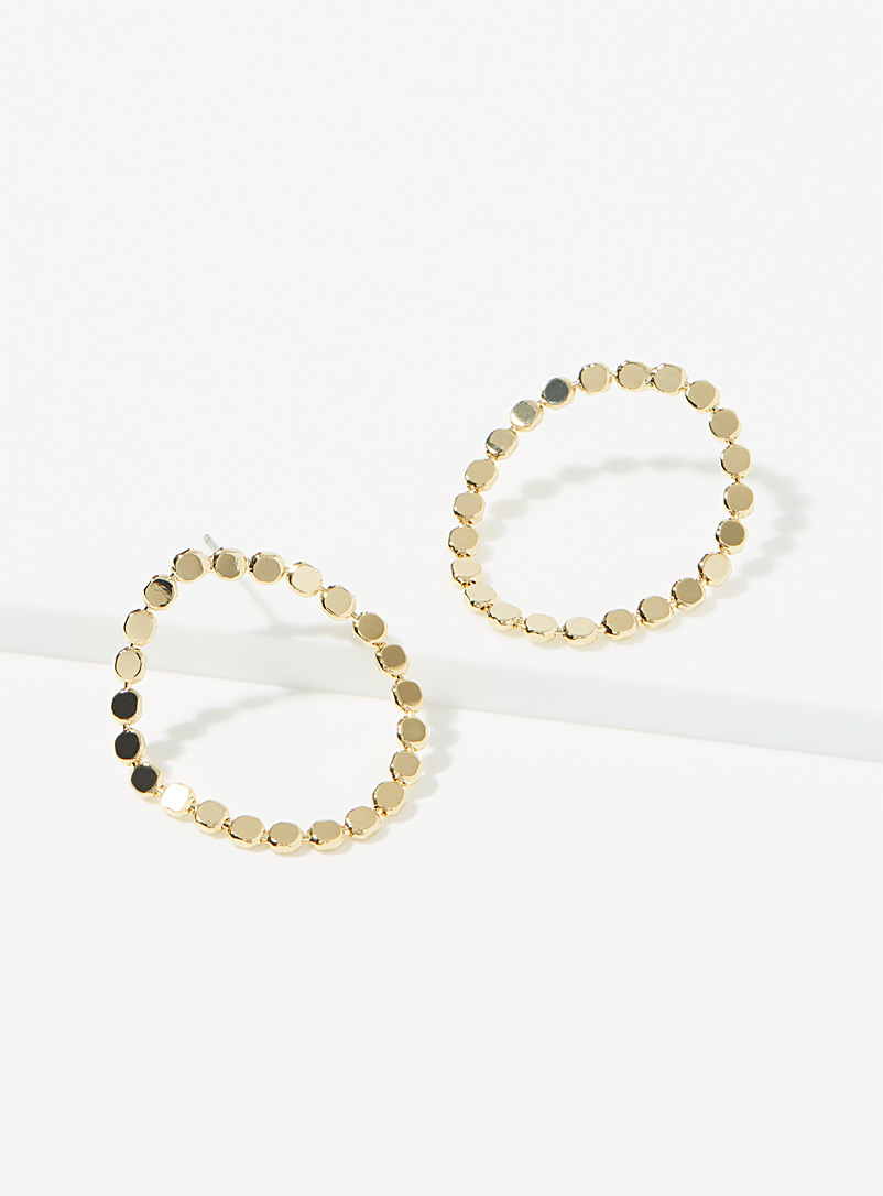 Simons Gold Soft circle earrings for women