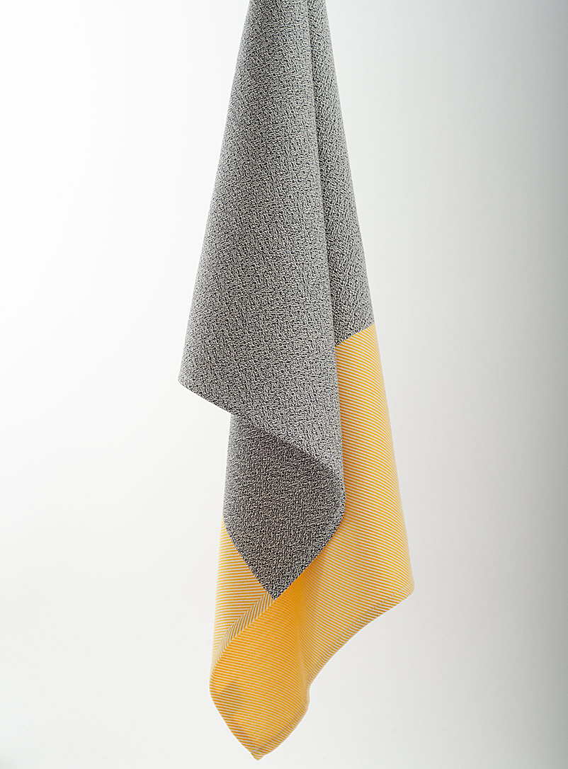 Pixtil Medium Yellow Aurore twill tea towel