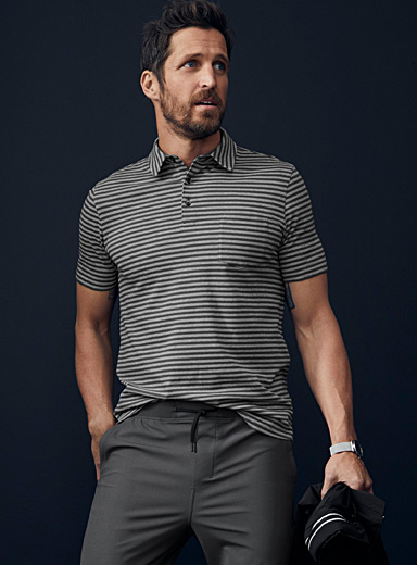 Organic cotton striped polo
