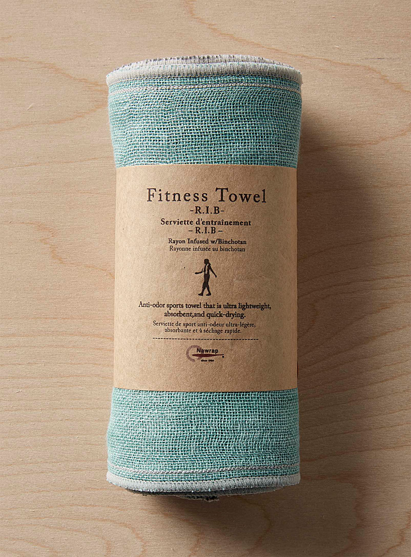 Charcoal-infused fitness towel  15 x 110 cm - Solid - Teal