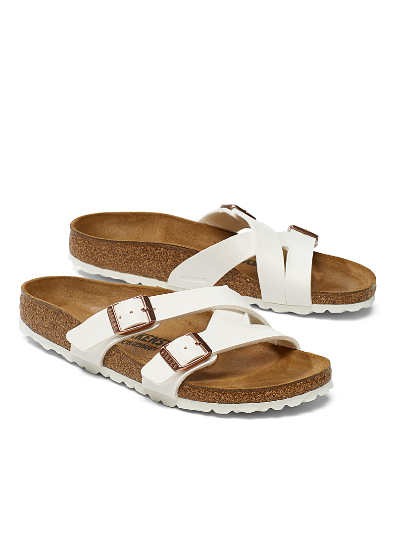 Birkenstock White Yao Birko-Flor sandals  Women for women
