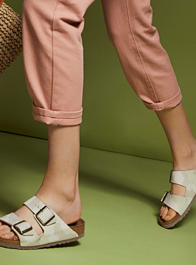 Birkenstock Cream Beige Camo Arizona Birko-Flor sandals  Women for women