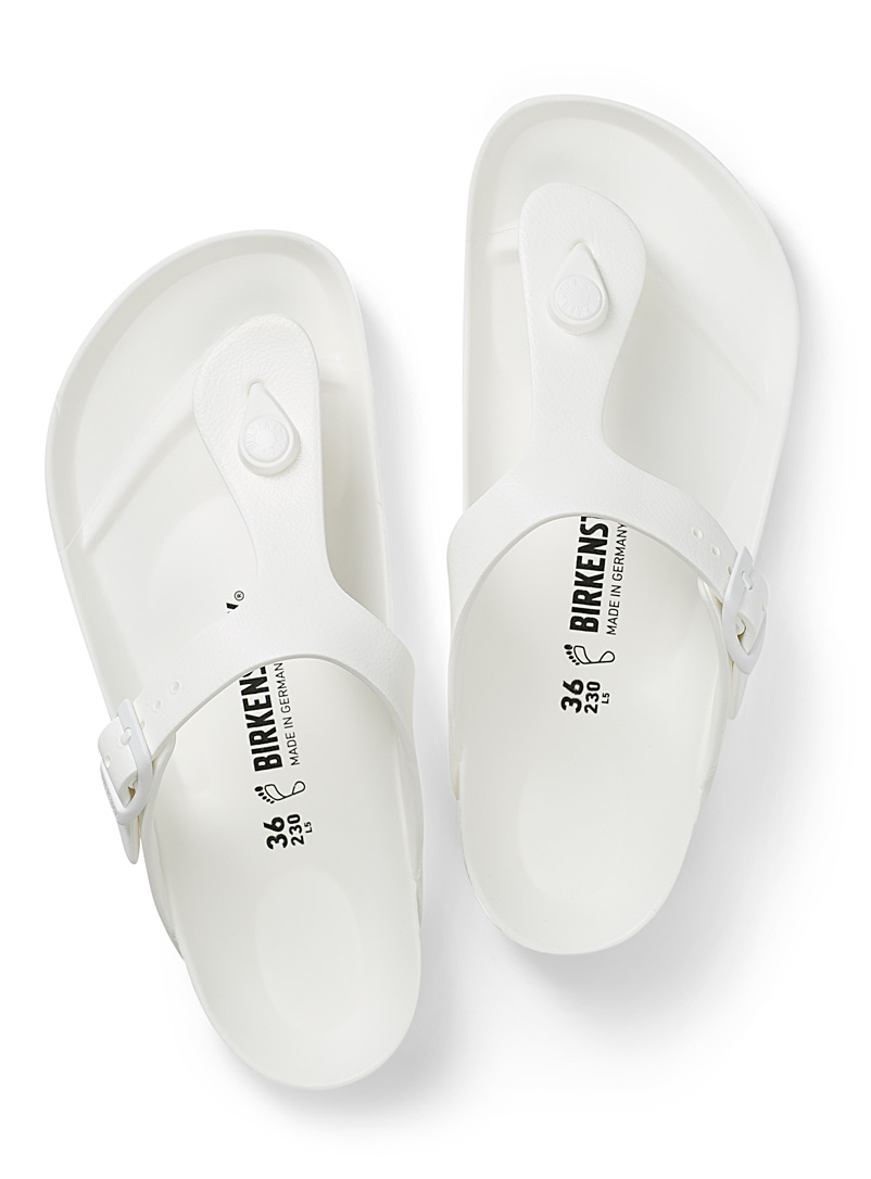 Birkenstock White Gizeh EVA monochrome sandals for women