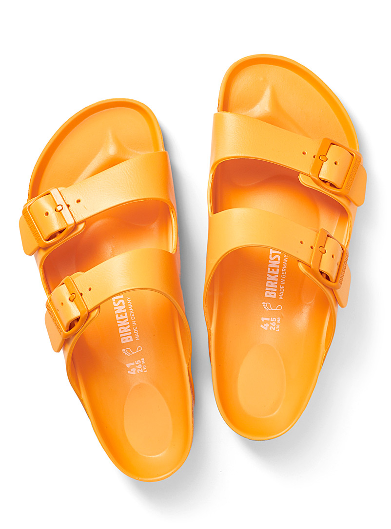 Birkenstock Golden Yellow Arizona EVA yellow gold sandals for men