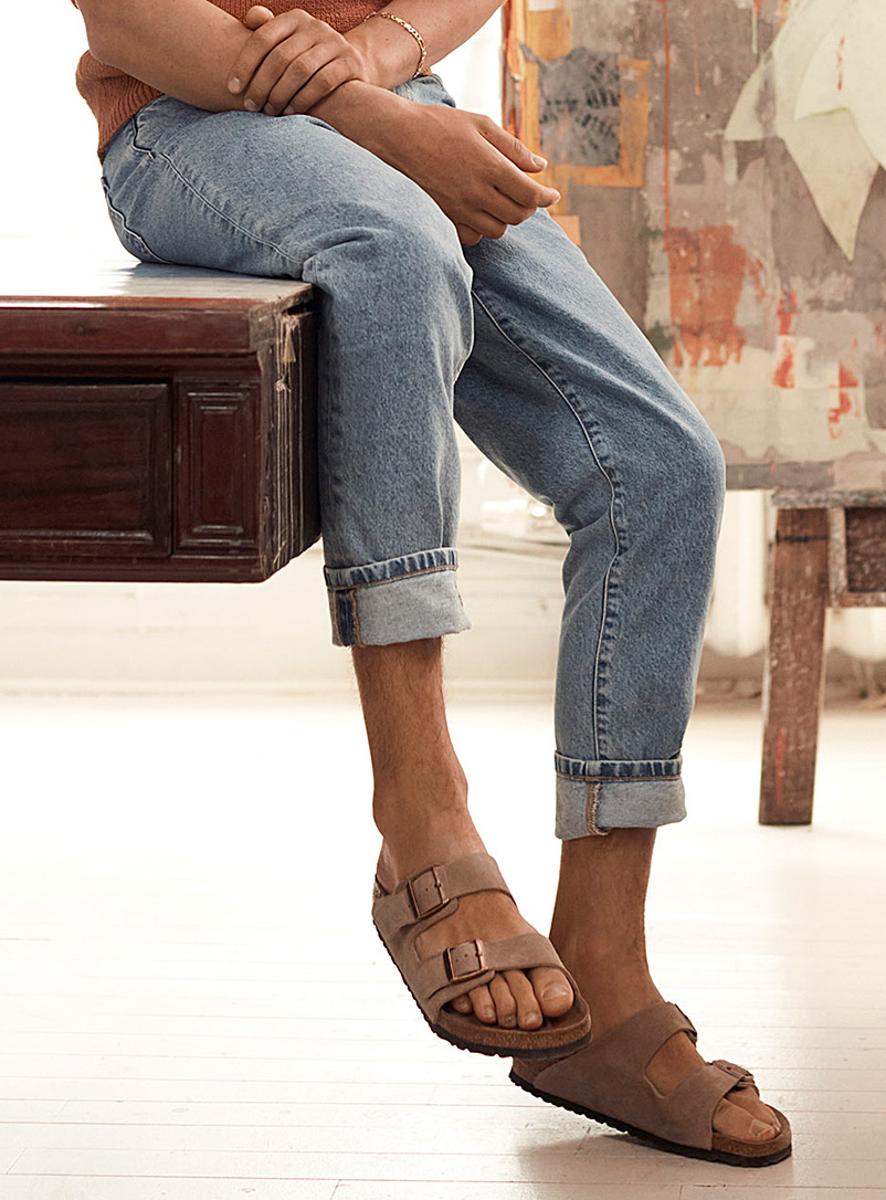 Birkenstock Sand Taupe suede Arizona sandals Men for men