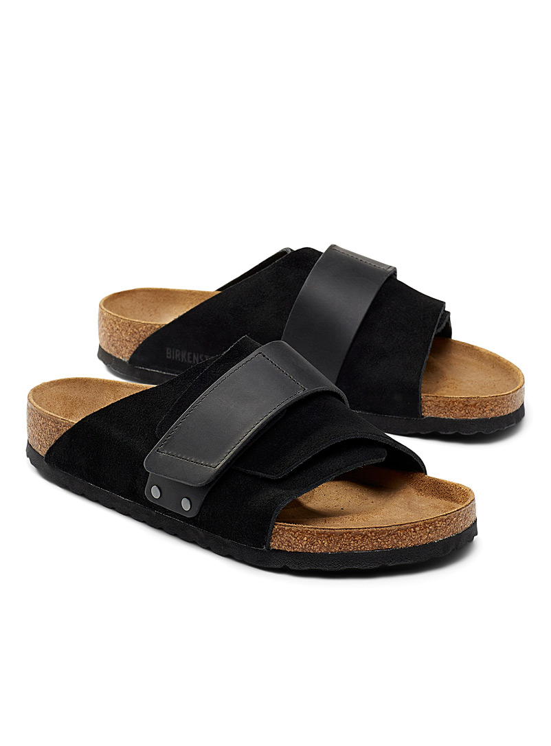 Birkenstock Black Kyoto sandals Men for men