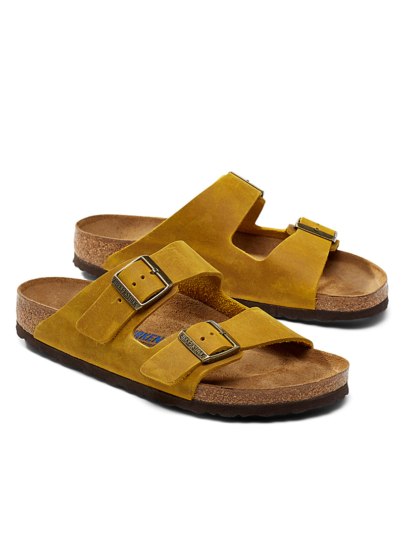Birkenstock Dark Yellow Ochre soft Arizona sandals Men for men