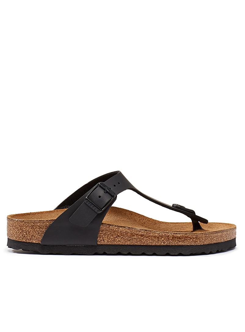 Birkenstock Black Gizeh Birko-Flor sandals  Women for women