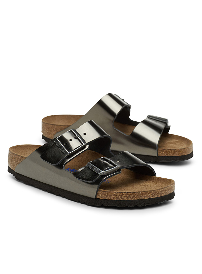 Metallic Arizona sandals  Women - Sandals - Dark Grey