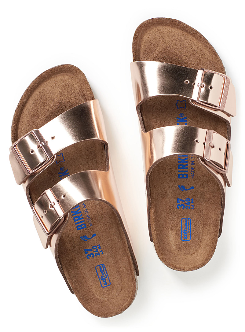 Metallic Arizona sandals  Women - Sandals - Dusky Pink